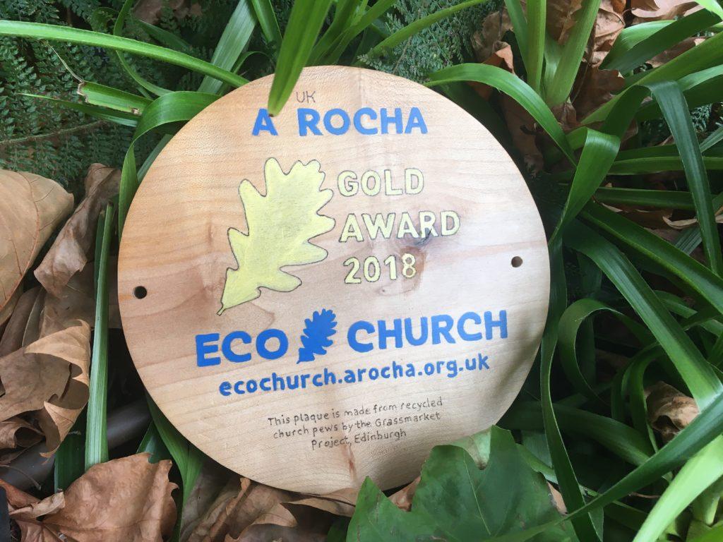 Gold eco church award