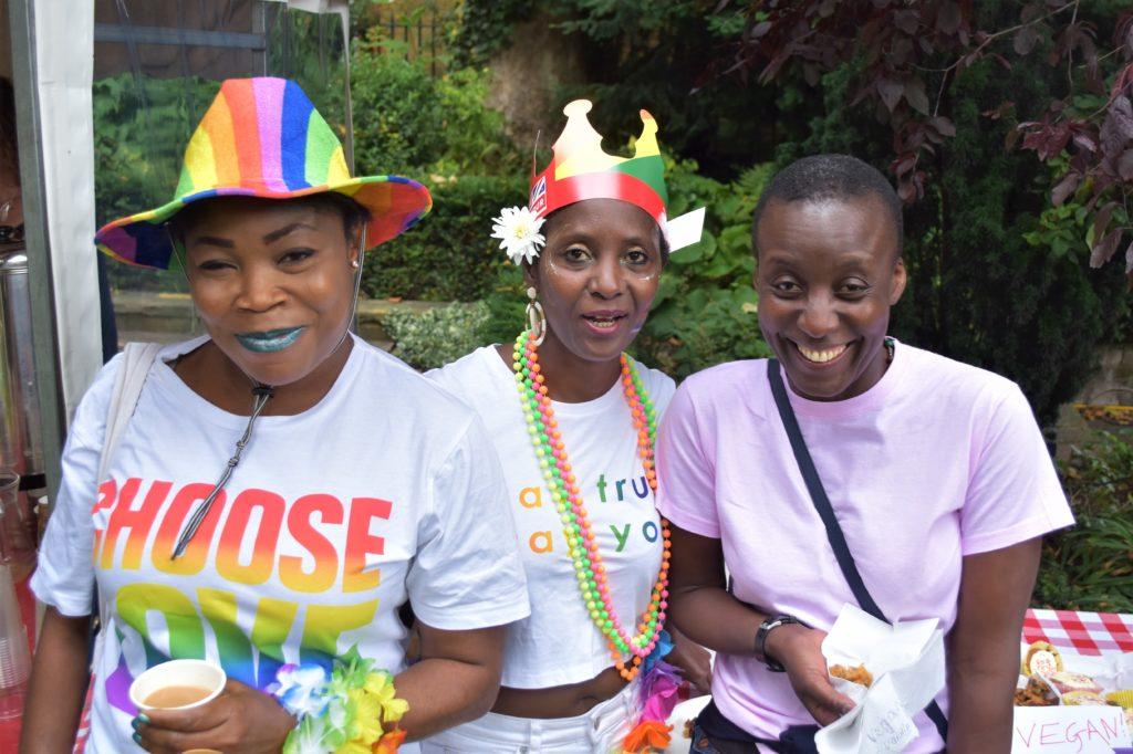 three women celebrating