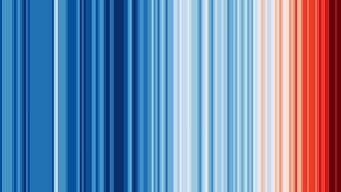 Warming Stripes banner